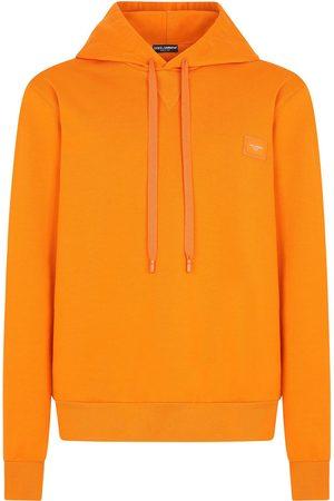 Dolce & Gabbana Men Hoodies - Cotton logo-patch hoodie