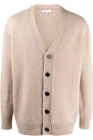 MACKINTOSH V-neck long-sleeve knitted cardigan - Neutrals