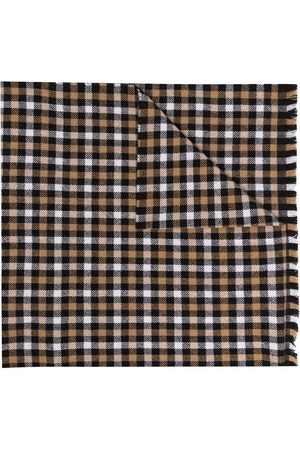 Acne Studios Scarves - Wool-blend check pattern scarf
