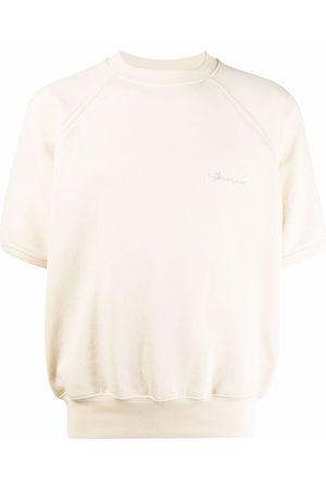 Acne Studios Embroidered-logo short-sleeve sweatshirt