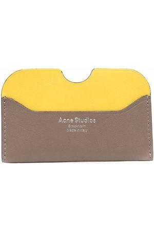 Acne Studios Embossed-logo leather cardholder