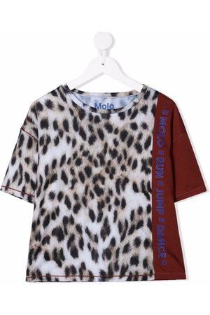 Molo Kids Leopard-print contrast T-Shirt