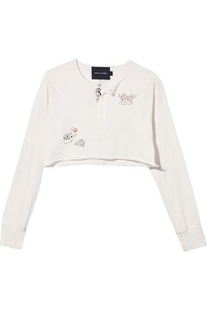 Marc Jacobs Women Cardigans - The Cropped Tattoo Henley cotton cardigan