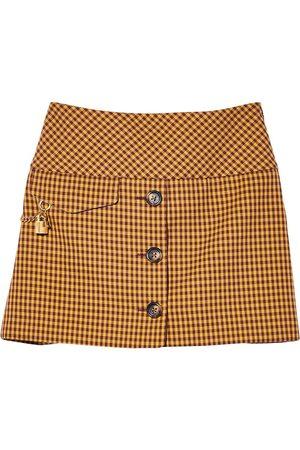 Marc Jacobs Women Printed Skirts - Check-print cotton-blend skirt
