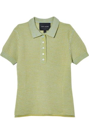Marc Jacobs Women Polo Shirts - Tonal Tuckstitch short-sleeved polo top