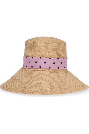 Miu Miu Women Scarves - Polka-dot scarf sun hat - Neutrals