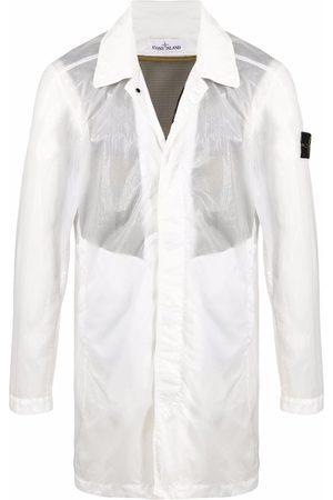 Stone Island Men Rainwear - Crinkle-effect lightweight jacket