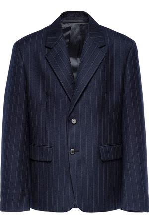 Prada Men Blazers - Striped wool blazer