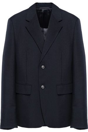 Prada Men Blazers - Single-breasted wool blazer