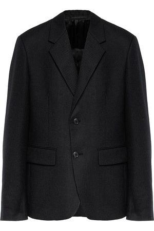 Prada Men Blazers - Single-breasted wool suit jacket