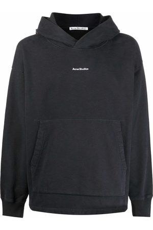 Acne Studios Men Hoodies - Logo-print oversized hoodie