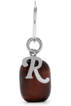 RAF SIMONS Men Hoop - Letter charm single hoop earring