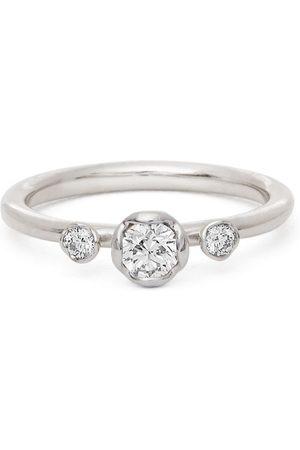 ANNOUSHKA Women Rings - 18kt white gold three-stone diamond engagement ring