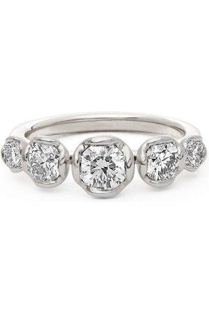 ANNOUSHKA 18kt white gold five diamond engagement ring