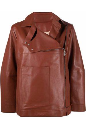 AERON Women Leather Jackets - Viva asymmetric leather jacket