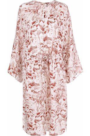 AERON Women Wrap tops - Tie-front side-slit blouse - Neutrals