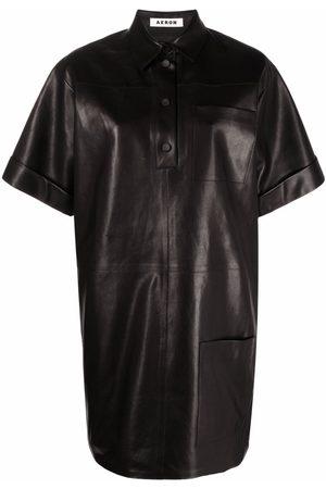 AERON Women Casual Dresses - Anok leather shirt dress