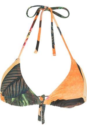 Lygia & Nanny Women Bikinis - Iasmim leaf-print bikini top