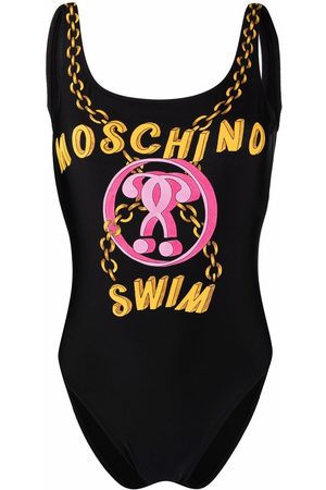 Moschino Double Question Mark logo swimsuit