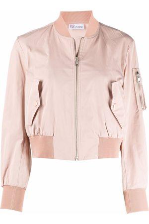RED Valentino Women Bomber Jackets - Cropped bomber jacket