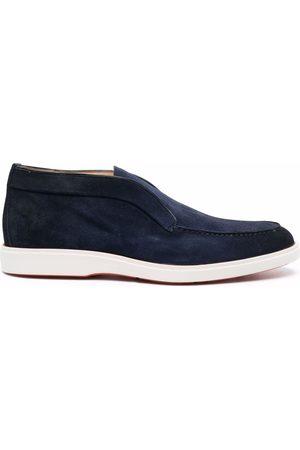 santoni Men Loafers - Pol Elast suede loafers