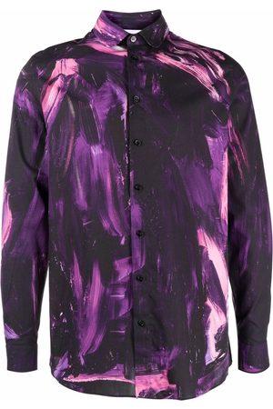 Moschino Men Long sleeves - Paint stroke long-sleeved shirt