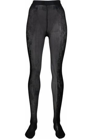 Wolford Women Thongs - X Amina Muaddi floral lace tights