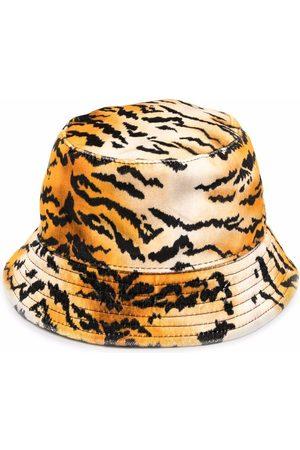 Serafini Women Hats - Tiger-print cotton bucket hat