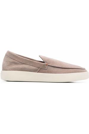 santoni Men Loafers - Backdrop leather loafers - Neutrals