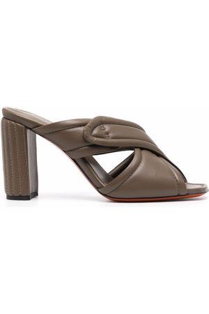 santoni Women Heels - Crossover high-heel mules