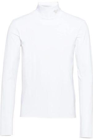 Prada Men T-shirts - Logo-plaque high-neck T-shirt