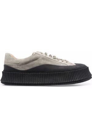 Jil Sander Vulcanised-sole suede sneakers - Grey