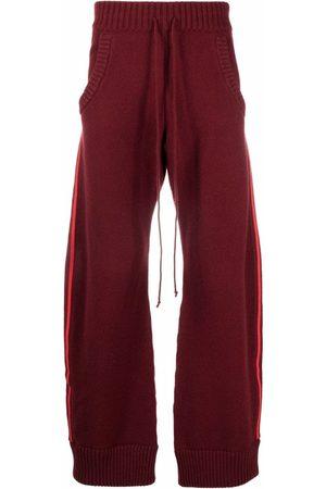 Maison Margiela Men Wide Leg Pants - Side-stripe wide-leg trousers