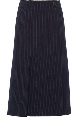 Prada Women Pencil Skirts - Pinstripe wool pencil skirt