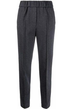 Peserico Women Skinny Pants - Slim-cut elasticated trousers - Grey