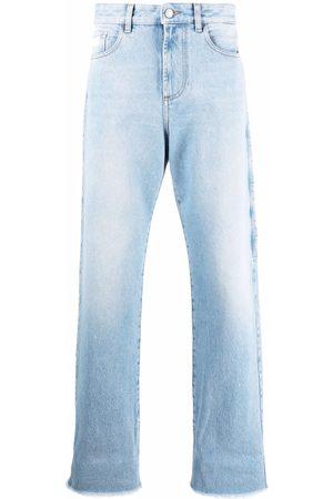 GCDS Men Wide Leg - Light-wash wide-leg jeans