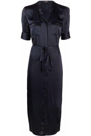 THEORY Women Casual Dresses - Satin short-sleeve shirt dress