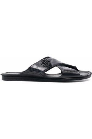Roberto Cavalli Embossed logo sandals - Grey