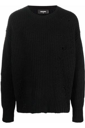 Dsquared2 Men Sweatshirts - Ribbed distressed-effect jumper