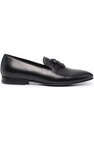 Roberto Cavalli Mirror Snake logo loafers