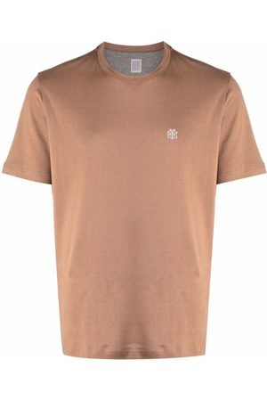ELEVENTY Men Short Sleeve - Logo-detail short-sleeved T-shirt - Neutrals