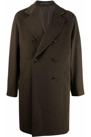 ELEVENTY Men Coats - Double-breasted wool-blend coat