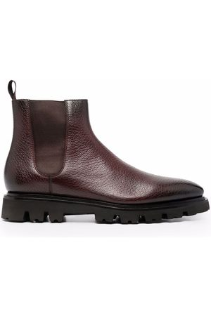santoni Men Ankle Boots - Cracked-effect ankle boots