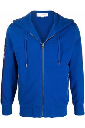 Alexander McQueen Men Hoodies - Logo-trim hoodie