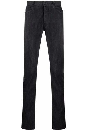 Canali Dark wash slim-fit jeans