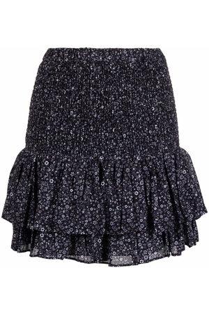 Michael Kors Women Printed Skirts - Floral-print peplum mini skirt