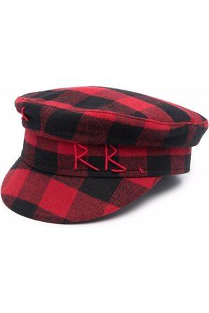 Ruslan Baginskiy Boys Hats - Gingham-check baker-boy hat