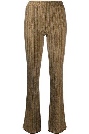 Holzweiler Women Wide Leg Pants - Stripe-pattern trousers