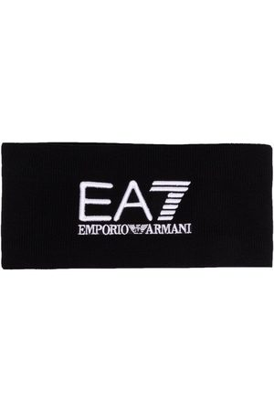 EA7 Embroidered logo knitted headband