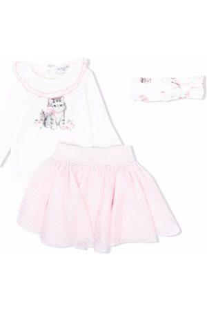 MONNALISA Cat-print skirt set